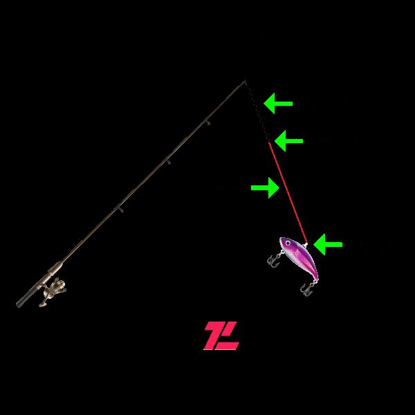 Jerkbait Rod Setup - Light Diagram