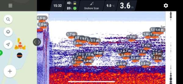 Deeper Chirp+ 2021 Smartphone Image Sholes of fish